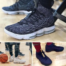 Wholesale cotton suppliers - Best supplier KING 15 EQUALITY Black White Basketball Shoes for Men AAA+ quality zoom 15s EP Sports Training Sneakers drop shipping
