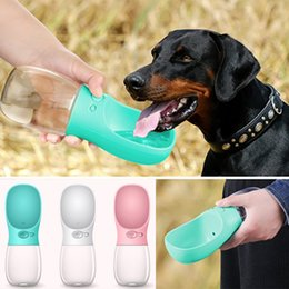 Distributeurs de boissons pour chiens en Ligne-Pet Dog Cat Water Bottle Drinking Dispenser Outdoor Sports Water Feeder Fedding Bottle Dog Feeders 12oz Pet Supplies HH7-1247