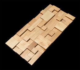 Wholesale Building Home Design - 3D wooden mosaic tiles interior Decor wall tiles building supplies home hotel bar restaurant design mosaic tile patterns natural wood mosa