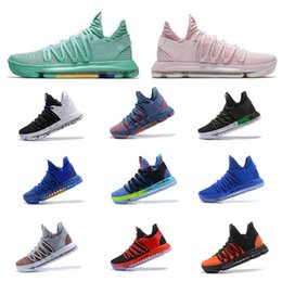 Wholesale pearl cream day - 2018 Basketball shoes Kevin Durant 10 All Star Aunt Pearl BHM Hyper Turquoise City Series Top quality KD 10 men basketball shoes Sneakers