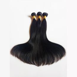 Sexy indisches haar online-Outlet Silky Gerade Unverarbeitete Nerz Brasilianisches Reines Menschenhaar Sexy Peruanisches Malaysisches Indisches remy Haar Natürliche Farbe und Schwarz # 1 # 1b