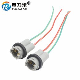 Wholesale led car light bulb socket - KE LI MI 2x T10 W5W Automobile small LED light bulb plug wedge hard adaptor socket connector t10 car lamp holder adapters base