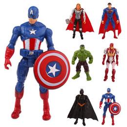 Süper kahraman Avengers Demir adam Hulk Kaptan Amerika Superman Batman aksiyon figürleri kahramanlar hediye koleksiyonu ço ... nereden