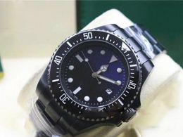 Hot seller Cinturino nero Uomo SEA-DWELLER Lunetta in ceramica Stanless Steel Clasp 116660 Movimento automatico Business casual da uomo da