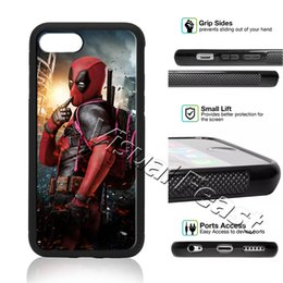 Wholesale superman phone covers - Deadpool Avengers Superhero Superman Phone Case for iPhone X 8 7 6 6s Plus 5s 5 SE Phone Cover Free Gift