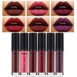 2020 lápiz labial halo mágico Al por mayor-Mágico Halo 6 Shades / Set New Lip Gloss Lingerie Mate Lipstick Impermeable Brillo de labios para maquillaje de belleza batom mate maquiagem lápiz labial halo mágico baratos
