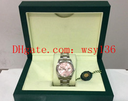 Senhoras relógios antigos on-line-Luxo de alta qualidade Datejust aço 36 mm Ladies Watch 116200 Rosa Floral Dial movimento Automatic relógios mulheres Relógios Original Box / Papers