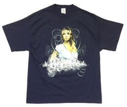 Beyonce Experience World Tour 2007 Camiseta azul marino Nueva licencia oficial desde fabricantes