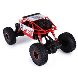 Coche rc bigfoot online-Nuevo diseño Rc Car 4wd 2 .4ghz Rc Car Toys Rally Climbing Car 4x4 Double Motors Bigfoot Remote Control Modelo Off-Road Vehicle