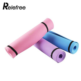 Wholesale folding gym mats - Relefree 6mm Thick EVA Yoga Mat Exercise Pad Non-slip Folding Lose Weight Gym Fitness Mat Gymnastics