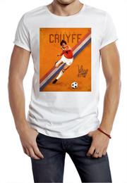 Canada Cruyff t-shirt hollandais classique des années 70 80 s football maître tee football holland orange supplier funny soccer Offre