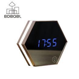 Argentina BDBQBL Multifunción LED Night Light Reloj de alarma digital Temperatura Display Mirror Thermometer Touch Table Lamp Reloj de viaje supplier travel thermometer digital Suministro
