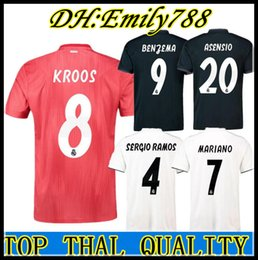 d17be5e2244 Real Madrid home white Soccer Jersey 18 19 Real Madrid away Soccer shirt  2019 KROOS ISCO ASENSIO BALE third red Football uniform 3rd red