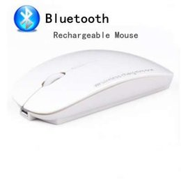 Mouse sem fio bluetooth para android on-line-Mouse Sem Fio Bluetooth 3.0 Recarregável Mudo Ratos Silenciosos para Tablet Android MAC Livro Laptop