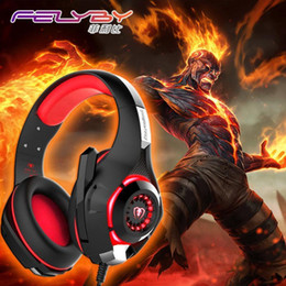 Wholesale cancelling canceling - New for mobile phone PS4 PSP PC Gaming Headphones 3.5mm+usb Wired Headset with Microphone LED Lamp Noise Canceling Headphone