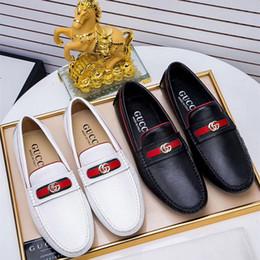 männer mokassin schuhe Rabatt Marke aus echtem leder herren luxus wohnungen italien mode freizeit fahren schuhe herren loafers mokassins für männer