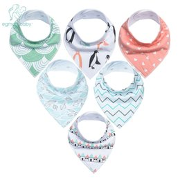 Wholesale perfect shower - 6Pcs Baby Bandana Drool Bibs Super Absorbent 100% Organic Cotton for Drooling Teething and Feeding, Perfect Baby Shower Gift Set