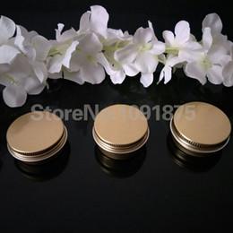 Canada Livraison gratuite 100 pcs / lot 15g or en aluminium Crème Pot Pot Nail Art Maquillage Lip Gloss Vide Cosmétique 15 ml or Métal Conteneurs D'étain Offre