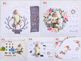 fotos veados Desconto Xmas 76 * 102 CM Recém-nascidos Fotografia Swaddle Cobertores Wraps Fundo Adereços Foto Do Bebê Veados Floral Impresso Backdrops Infantil Macio