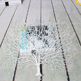 Wholesale Artificial Red Branches - Wholesale-1pc Wedding Party Decoration Peacock Coral Branch Plastic Decorative Tree Dried Plants Branches Artificial Plant Decor 6A0028