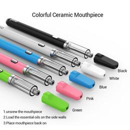 Rauchöl für e zigarette online-510 Picoöl vorheizen Starter Kit Verdampfer e Zigarette Vape Stift Knospe Touch Open Vape Glaskeramik Spule Patrone Rauchwachs co2