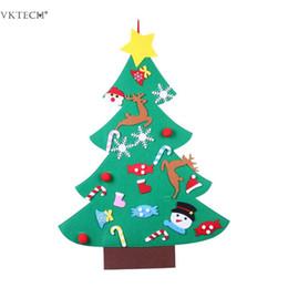 Палки деревьев для стен онлайн-DIY чувствовал Рождественская елка украшения Рождество DIY Декор стен для детей спальня Self Stick чувствовал рождественские елки дети рождественские подарки
