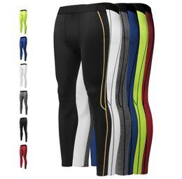 Wholesale men s yoga pants - Mew men pro Gym Pants leggings basketball base training pants Underwear running quick-drying perspiration nine pants Yoga Bodybluding Pant