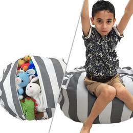 Wholesale folding sofas - 18 Inches Lazy Bean Bag Sofa Clothing Leisure Chair Organizer Storage Seat Bag Bedroom Children Toy Creative Kids Chair 43 Designs AAA74