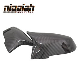 Wholesale M4 Car - 1: 1 Replacement car styling carbon fiber ABS rear side mirror cover for BMW BMW F20 F21 F22 F23 F30 F31 F32 M3 M4 look