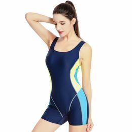 Wholesale Female Racing Suits - New Competition Professional Swimwear Women Sport Swimsuit Racing One Piece Swimwear Female Boxer Shorts Plus Size Bathing Suit