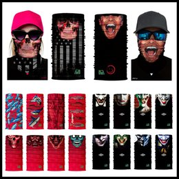 Wholesale Protection Mask Bicycle - 336 Styles Skull Balaclava Neck Face Mask 3D Seamless Halloween Cosplay Military Bandana Protection Headwear Bicycle Scarf