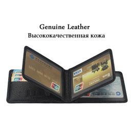 Marca licenciada on-line-Marca Zuoerdanni carteira de motorista titular carteira de documentos de couro genuíno saco titular ID cartão caso 4 dobras A216
