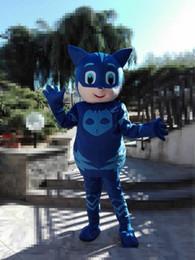 2019 costumi pj 2018 vendita calda maschera uomo costumi della mascotte parata qualità costumi PJ mascotte compleanni costumi Catboy costumi pj economici