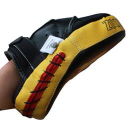 buon rilievo all'ingrosso Sconti commercio all'ingrosso Zooboo buona qualità mitt boxing kicking target karate allenamento combattimento kicking pad 2 pz / lotto