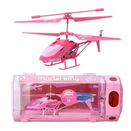 Helicóptero de control remoto de aleación online-Alloy 3.5 Channel mini control remoto con giroscopio helicóptero ligero modelo pequeño modelo de avión juguetes para niñas