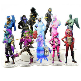 Wholesale wholesale toys figures - 23 Styles Fortnite Action Figures Cartoon Fortnite Toys Acrylic Collection Decoration for Children Gift Party Decorations CCA9990 65pcs