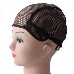 Wholesale Hair Nets For Wigs - Wig Caps For Making Wigs adjustable straps back swiss full front net wig cap wig weave net hair extension hair accessories