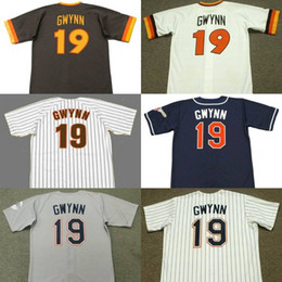 Wholesale Black Tony - men youth 19 TONY GWYNN San Diego P 1984 1988 1997 Away Baseball Jersey