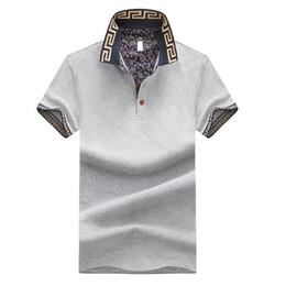 Canada Ventes chaudes chemise de luxe conception masculine été col rabattu manches courtes en coton chemise hommes top Offre