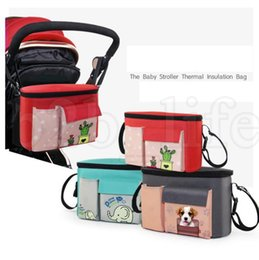 Wholesale hanging cart - Baby Stroller Diaper Bag For Baby Stuff Baby Accessory Organizer Mummy Bag Hanging Carriage Pram By Cart bag LJJK1019