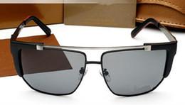 gafas de sol de bloque Rebajas Nuevos hombres gafas de sol de marca de diseño de marca gafas obstruidas lente UV400 de metal marco cuadrado de calidad superior naranja de diseño clásico 5011