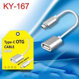 Örgü Tipi C USB 3.1 Erkek OTG Tip-A Dişi Adaptör Kablosu Android için mikro usb için otg nereden otg kablosu tedarikçiler