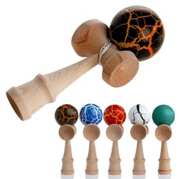 Wholesale Japanese Traditional Game - XQ Fun Japanese Traditional Wooden Kendama Skillful Juggling Ball Game Toy Outdoor Sport Ball Educational Toy For Children Gift