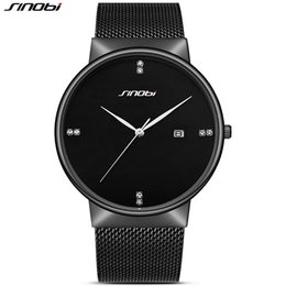 2019 сталь синови SINOBI Men's Watches Top  Fashion Business Watches Mesh Stainless Steel Quartz Watch Men Relogio Masculino дешево сталь синови