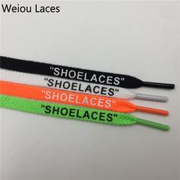 "Wholesale plastic siding - Weiou New Fashion Double Side Printing Single Head Flat Cotton Polyester 'SHOELACES"" White Black Green Orange Colored Shoelace"