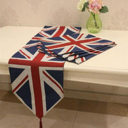 Wholesale Runner Accessories - Foreign England classic cotton table runner and four square placemat   Home Textile Tableware Accessories Rice-shaped pattern