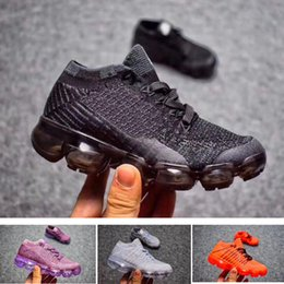 Wholesale Baby Brown Shoes - Triple black vapormax 2018 Infant Baby Boy Girl & Kids & Youth & Children Sneaker high quality Running shoes tennis trainer