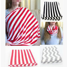 Wholesale Feeding Tops - Nursing Cover Breastfeeding Cover Baby Infant Breathable Cotton Muslin Nursing Cloth Shopping Cart Nursing Cover Feeding Covers Top Quality
