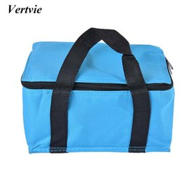 Wholesale Green Picnic - Vertvie Camping Hiking Picnic Bags Multifunction Oxford Portable Thick Insulated Bag 14x12x22cm Ice pack Picnic Bags