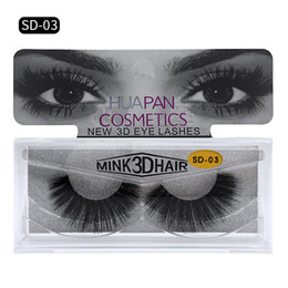 Wholesale real natural hair feathers - 3d Mink lashes Fur Eyelashes extensions Thick real mink HAIR false eyelashes natural for Beauty Makeup Extension fake Eyelashes false lashes